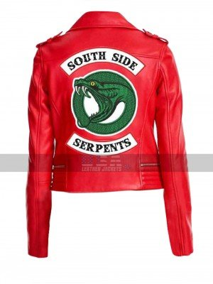 Riverdale Southside Serpents Cheryl Blossom Biker Jacket